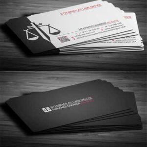 mẫu card visit đẹp cho luật sư